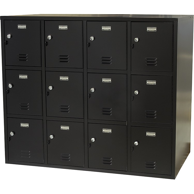 NorrenModular Instrument Cabinets in BlackN-001 W/ 12 Compartments