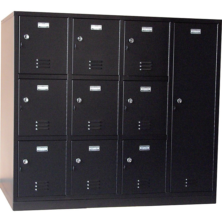 Norren Modular Instrument Cabinets in Black N-007 W/ 10 Compartments