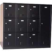Norren Modular Instrument Cabinets in Black N-007 with 10 Compartments
