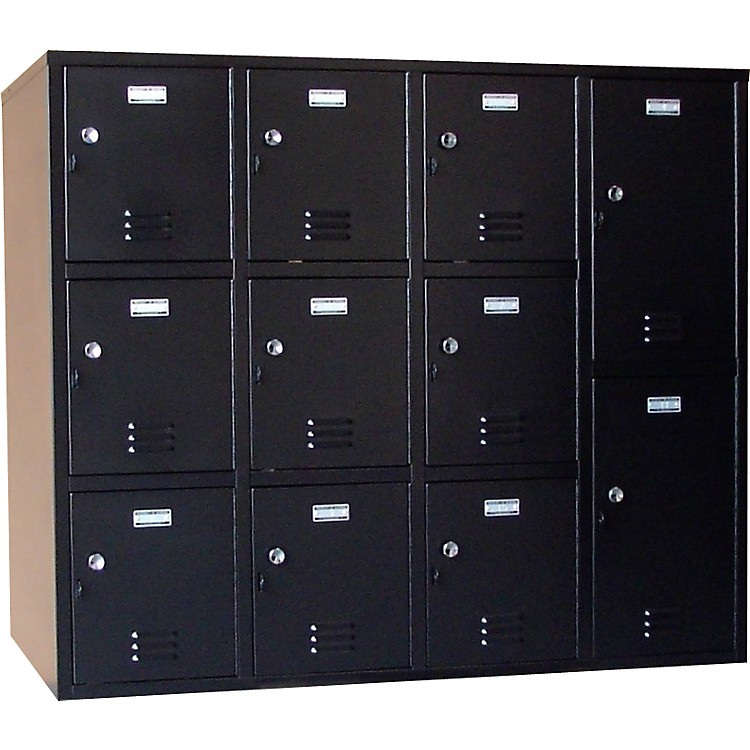 NorrenModular Instrument Cabinets in BlackN-008 W/ 11 Compartments