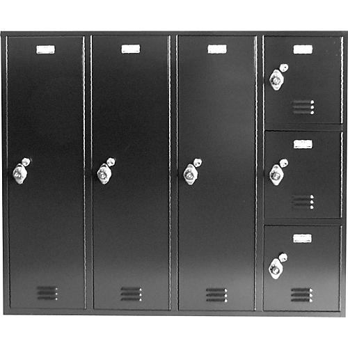 Norren Modular Instrument Cabinets in Black N-016 with 6 Compartments