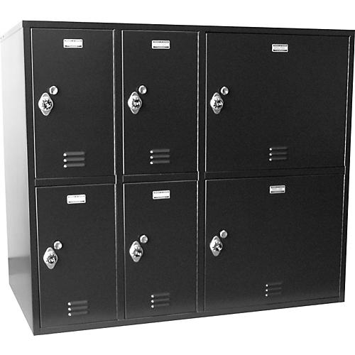 Norren Modular Instrument Cabinets in Black N-025 with 6 Compartments