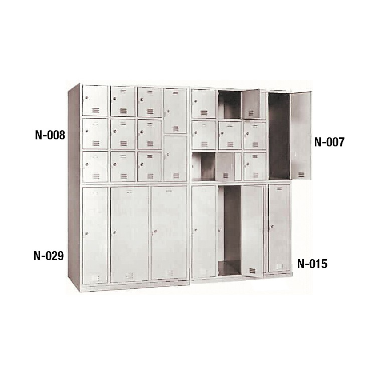 NorrenModular Instrument Cabinets in IvoryN-003 W/ 8 Compartments