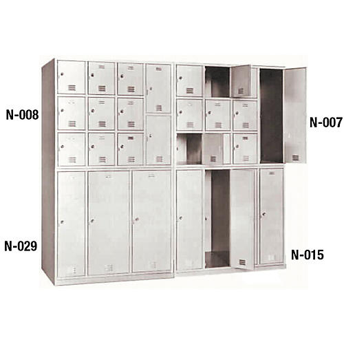 Norren Modular Instrument Cabinets in Sand N-043 with 3 Compartments