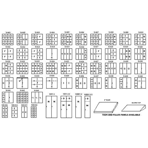 Norren Modular Instrument Storage Half Cabinets Nh-001  Gray