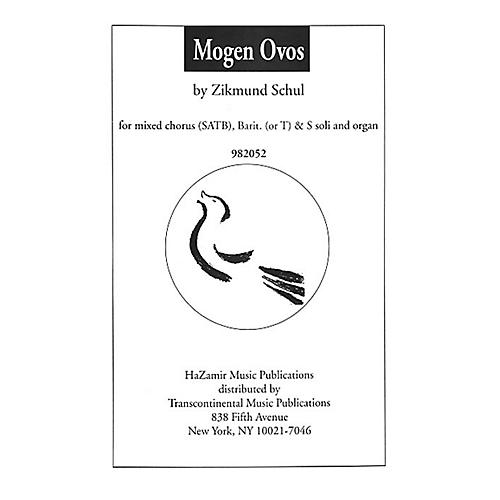 Transcontinental Music Mogen Ovos SATB composed by Zikmund Schul-thumbnail