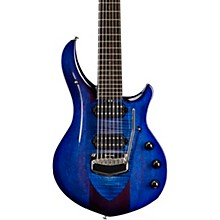 Ernie Ball Music Man Monarchy Majesty 7 Chrome Hardware 7-String Electric Guitar Imperial Blue