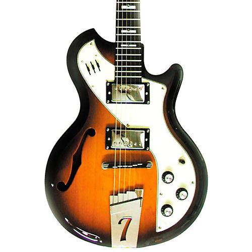 Italia Mondial II Semi-Hollow Electric Guitar Tobacco Sunburst