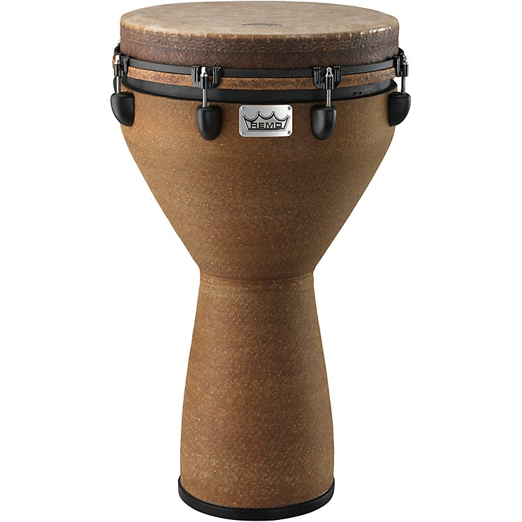 Remo Mondo Designer Series Key-Tuned Djembe Earth 25X14 Inches