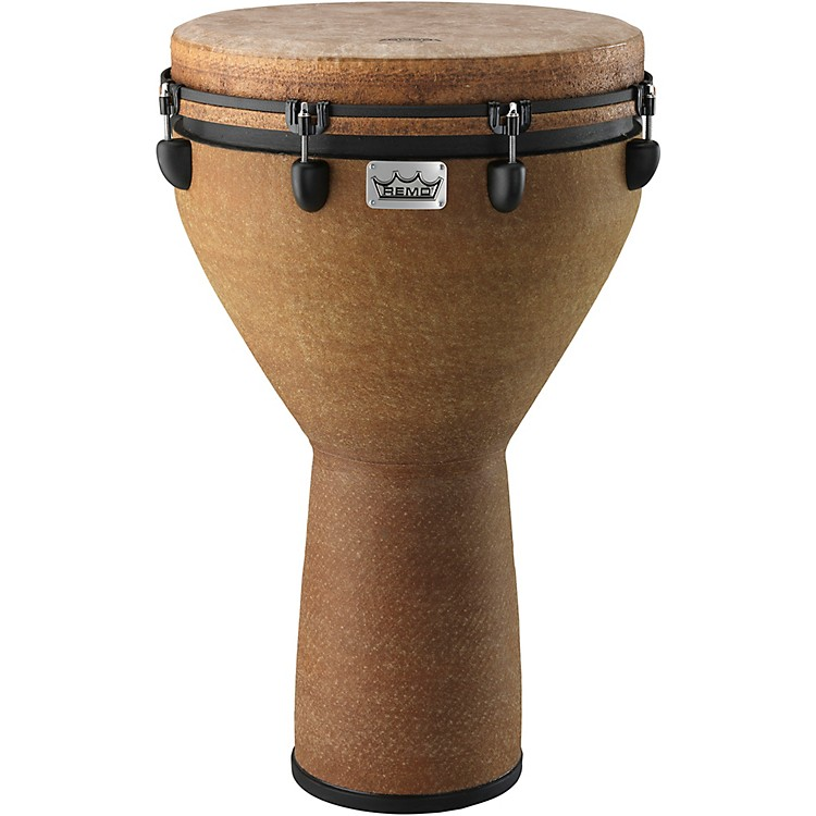 Remo Mondo Designer Series Key-Tuned Djembe Earth 28x18 Inch