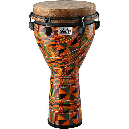Remo Mondo Designer Series Key-Tuned Djembe Kintekloth 12 x 24 in.