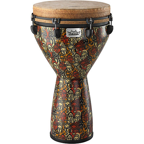 Remo Mondo Designer Series Key-Tuned Djembe Multi-Mask 25 x 14 in.