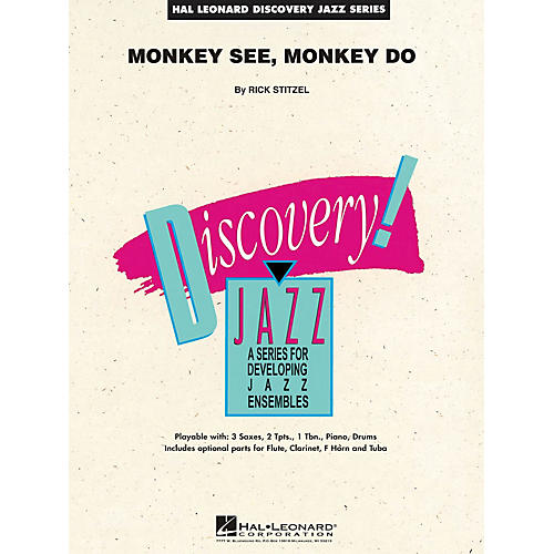 Hal Leonard Monkey See, Monkey Do Jazz Band Level 1.5 Composed by Rick Stitzel-thumbnail