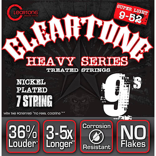 Cleartone Monster Heavy Series Nickel Plated 7-String Super Light Electric Guitar Strings-thumbnail