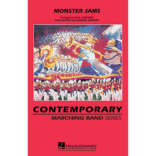 Hal Leonard Monster Jams Marching Band Level 3 Arranged by Michael Sweeney-thumbnail