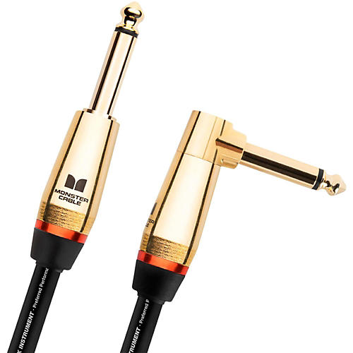 Monster Cable Monster Rock 1/4 Inch Angled to Straight Instrument Cable