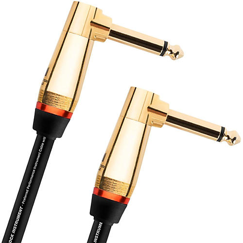 Monster Cable Monster Rock 1/4 Inch Dual Angled Instrument Cable 8 in.