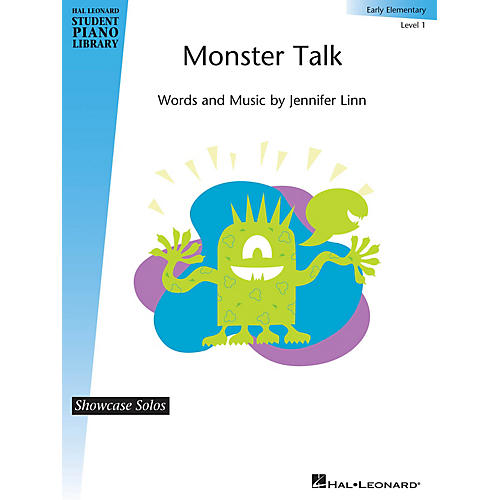 Hal Leonard Monster Talk Piano Library Series by Jennifer Linn (Level Early Elem)-thumbnail