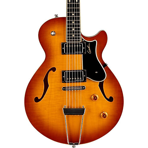 Godin Montreal Premiere Flame Top Deluxe Hollowbody Guitar-thumbnail
