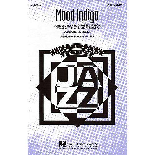 Hal Leonard Mood Indigo SATB arranged by Ed Lojeski