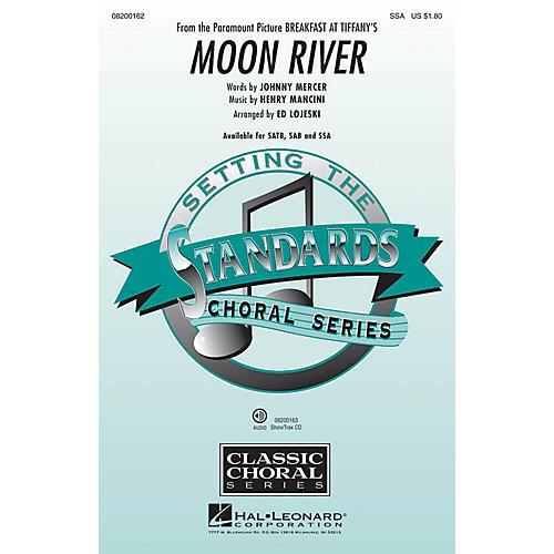Hal Leonard Moon River (from Breakfast at Tiffany's) SSA arranged by Ed Lojeski-thumbnail