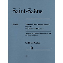 G. Henle Verlag Morceau de Concert in F minor Op. 94 (Horn and Piano) Henle Music Folios Series Softcover
