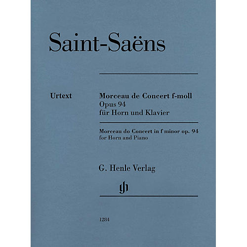 G. Henle Verlag Morceau de Concert in F minor Op. 94 (Horn and Piano) Henle Music Folios Series Softcover-thumbnail