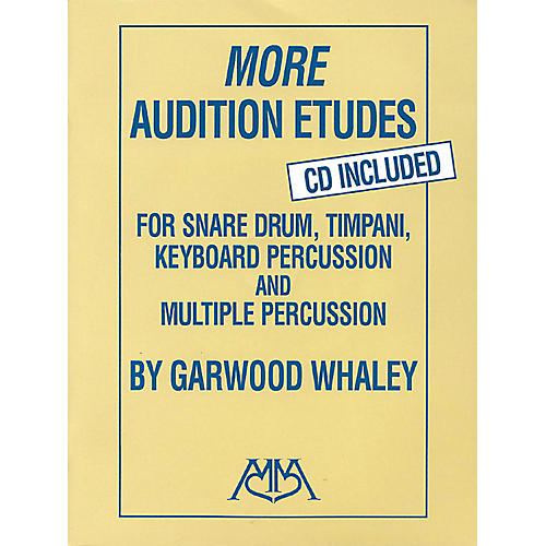 Meredith Music More Audition Etudes for Snare Drum, Timpani, Keyboard Percussion and Multiple Percussion Book/CD-thumbnail