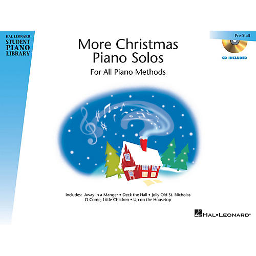 Hal Leonard More Christmas Piano Solos - Prestaff Level Piano Library Series Book with CD-thumbnail
