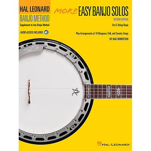 Hal Leonard More Easy Banjo Solos - 2nd Edition (for 5-String Banjo) Banjo Series Softcover Audio Online-thumbnail