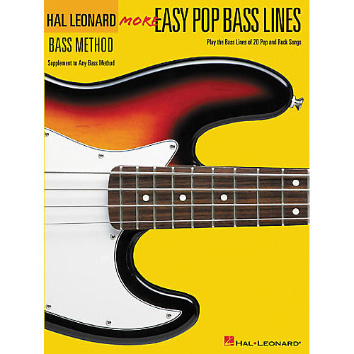 Hal Leonard More Easy Pop Bass Lines Bass Tab Book-thumbnail