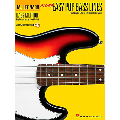 Hal Leonard More Easy Pop Bass Lines (Book/CD)-thumbnail