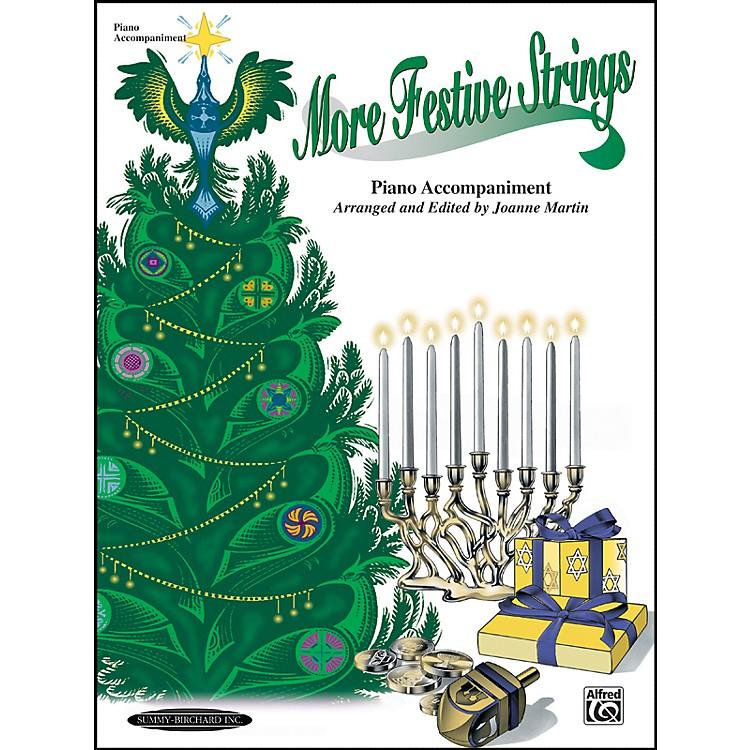 AlfredMore Festive Strings Piano Accompaniment (Book)