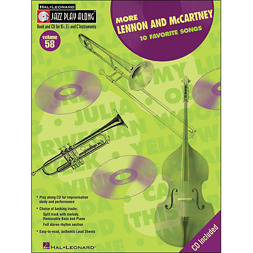 Hal Leonard More Lennon & McCartney Volume 58 Book/CD Jazz Play Along