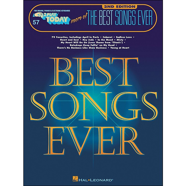 Hal Leonard More Of The Best Songs Ever 2nd Edition E-Z Play 57