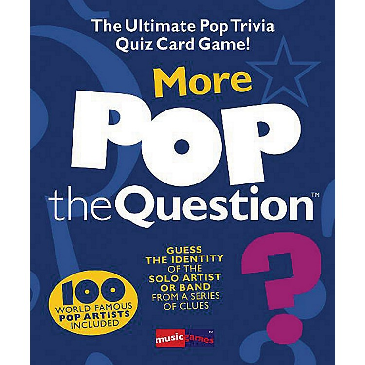 Music SalesMore Pop The Question Game - The Ultimate Pop Trivia Quiz Card Game