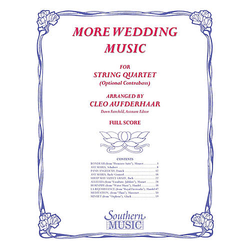 Southern More Wedding Music (Conductor Score) Southern Music Series Arranged by Cleo Aufderhaar-thumbnail