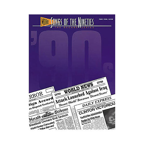 Hal Leonard More songs of The '90s Piano, Vocal, Guitar Songbook