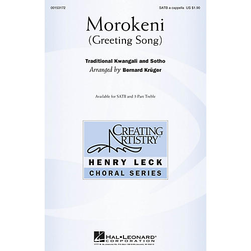 Hal Leonard Morokeni (Greeting Song) SATB a cappella arranged by Bernard Krüger-thumbnail