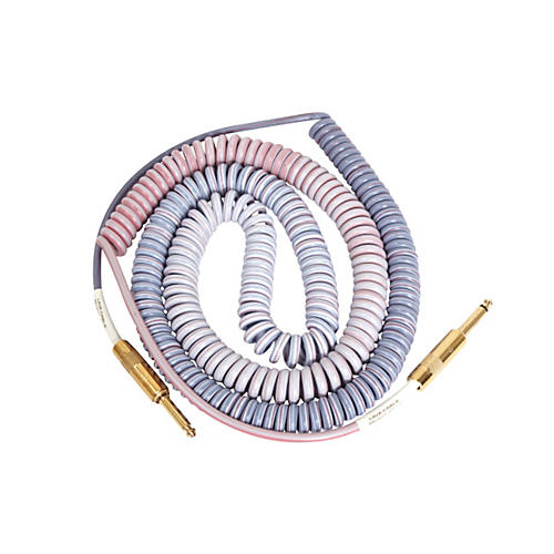 Lava Morph Coil Instrument Cable Straight Silent to Straight Reds, Pinks, Brown,  Blue 25 Foot