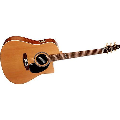 Seagull Mosaic CW Dreadnought QII Cutaway Acoustic-Electric Guitar