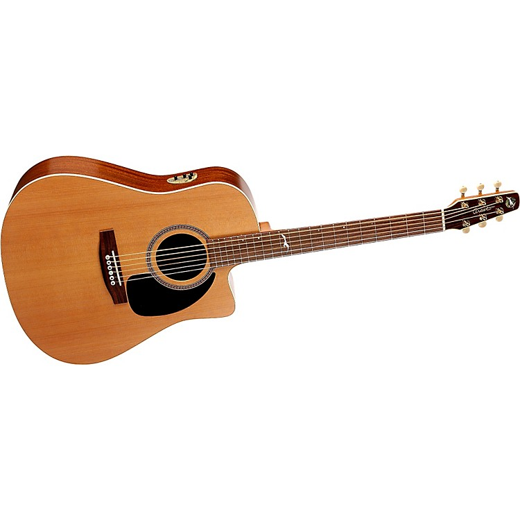 seagull mosaic cw dreadnought qii cutaway acoustic electric guitar musician 39 s friend. Black Bedroom Furniture Sets. Home Design Ideas