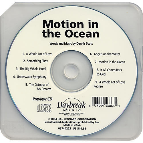 Hal Leonard Motion In The Ocean Preview