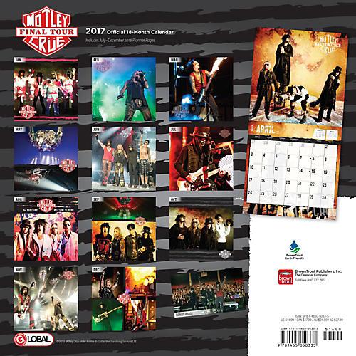 Browntrout Publishing Motley Crue 2017 Global Calendar-thumbnail