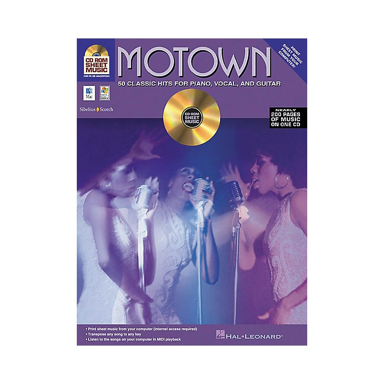 iSongMotown - 50 Classic Hits for Piano/Vocal/Guitar (CD-ROM)