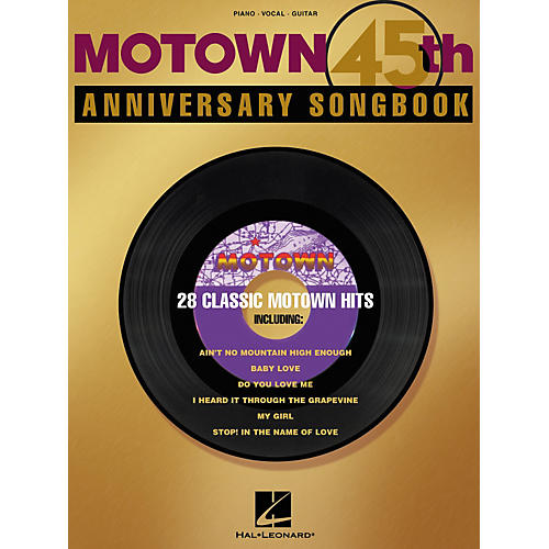 Hal Leonard Motown 45th Anniversary Piano/Vocal/Guitar Songbook