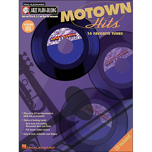 Hal Leonard Motown Hits - Jazz Play-Along Volume 85 (CD/Pkg)