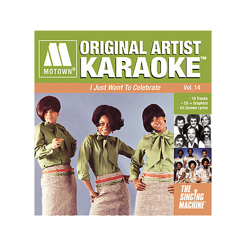 The Singing Machine Motown I Just Want To Celebrate Karaoke CD+G
