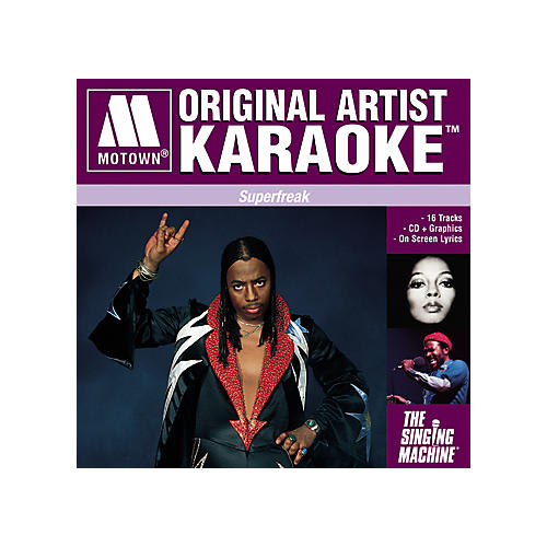 The Singing Machine Motown Superfreak Karaoke CD+G