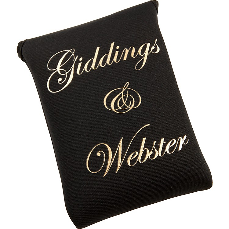 Giddings & Webster Mouthpiece Pouch Black Neoprene